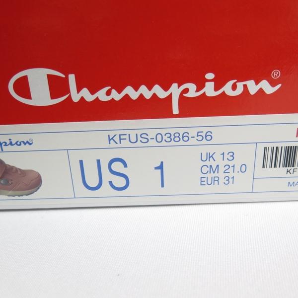 CHAMPION 休閒運動鞋 兒童運動鞋 慢跑鞋 中童鞋 魔鬼氈 KFUS038656 粉藍【iSport愛運動】