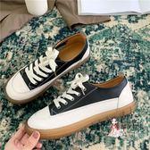 娃娃鞋 軟妹可愛小皮鞋日系圓頭女學生百搭娃娃鞋平底透氣小白鞋網紅潮鞋 3色35-40