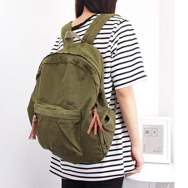 後背包 素色 簡約 手提包 帆布包 學院風 休閒- 雙肩包/後背包【AL036】 ENTER  09/20