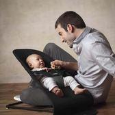 嬰兒搖搖椅躺椅安撫椅搖籃椅新生兒寶寶平衡搖床哄娃哄睡神器  IGO