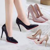 2019春季新款超高跟鞋女性感淺口尖頭鞋子細跟職業鞋ol漆皮單鞋 DR12481【KIKIKOKO】