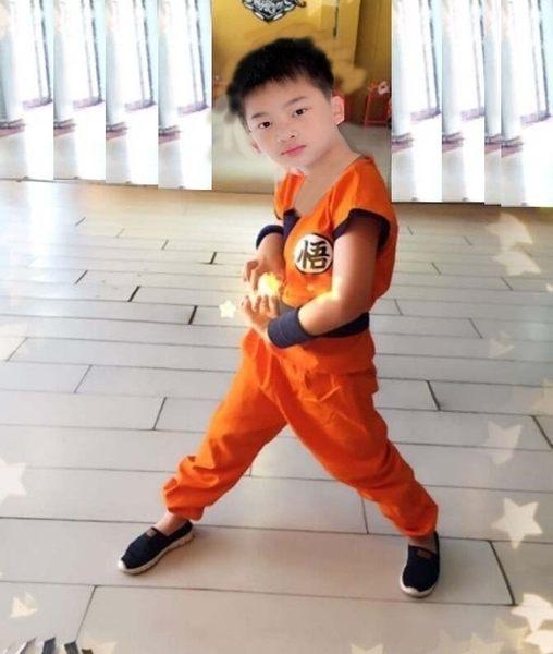 衣童趣♥孫悟空 七龍珠 角色扮演兒童服裝 五件組合 衣服+褲子+綁帶+護腕+尾巴 熱賣款 【現貨】