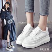 厚底鞋女2019秋季新款百搭韓版學生休閒鬆糕單鞋子 QW3298『夢幻家居』