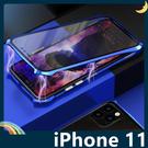 iPhone 11 Pro Max 萬磁王 蝙蝠俠 金屬邊框+鋼化雙面玻璃 刀鋒戰士 全包磁吸款 保護套 手機套 手機殼