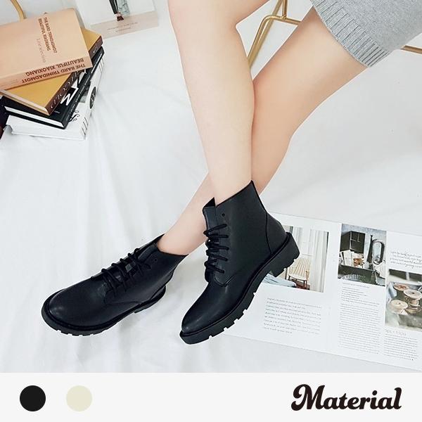 短靴 時尚簡約綁帶短靴 MA女鞋 T6619