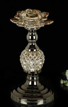 協貿國際家居裝飾品水晶玻璃燭台1入