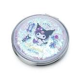 小禮堂 酷洛米 圓形流沙隨身雙面鏡 隨身化妝鏡 放大鏡 圓鏡 折鏡 (紫 2021新生活) 4550337-40011