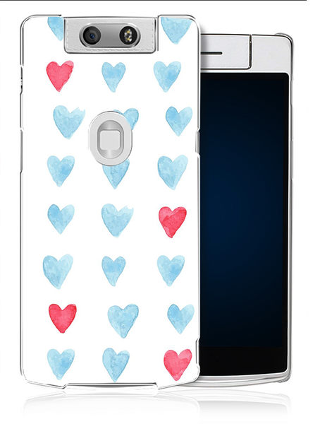 ✿ 3C膜露露 ✿【愛心水彩*水晶硬殼】OPPO N3手機殼 手機套 保護套 保護殼
