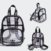 KUMO SHOES-ADIDAS 女 CLEAR MINI BACKPACK 迷你後背包 透明黑 CL5280