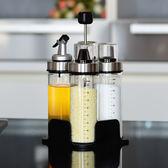 油瓶防漏玻璃油壺醋壺醬油瓶醋瓶調料瓶調味鹽罐架子套裝多色小屋