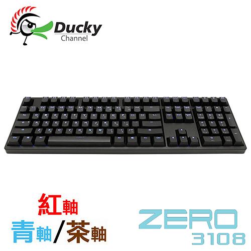 Ducky ZERO 3108 PBT 二色成型 藍光背光 黑色 Cherry 軸 機械式鍵盤