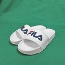 FILA 運動拖鞋 4S313T113 白色 縫線LOGO 整數尺碼 23~29cm【iSport代購】