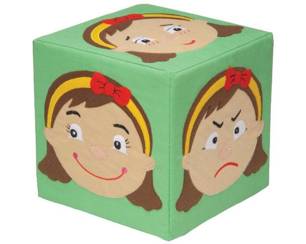 【 KINGDAM 】小凱撒布書系列-表情小姐海棉方塊 11008