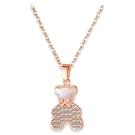 【5折超值價】項鍊女款水鑽泰迪熊時尚設計簡約流行項鍊