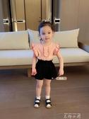 辰辰媽女童裝幼兒園百搭洋氣薄衛衣休閒短褲兒童寶寶夏季寬鬆褲子 米娜小鋪