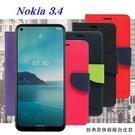 【愛瘋潮】諾基亞 Nokia 3.4 5G 經典書本雙色磁釦側翻可站立皮套 手機殼 側掀皮套 可插卡 可站立