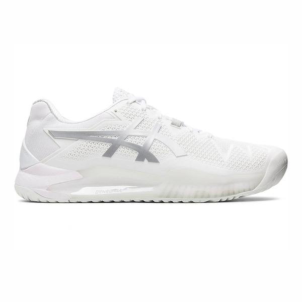 Asics Gel-resolution 8 [1041A079-100] 男鞋 運動 網球鞋 貼合支撐 亞瑟士 白 銀