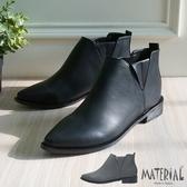 短靴 側V鬆緊尖頭短靴 MA女鞋 T2040