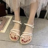 涼鞋 溫柔風涼鞋女仙女風ins潮2020年新款時尚夏季學生百搭羅馬平底鞋潮人女鞋