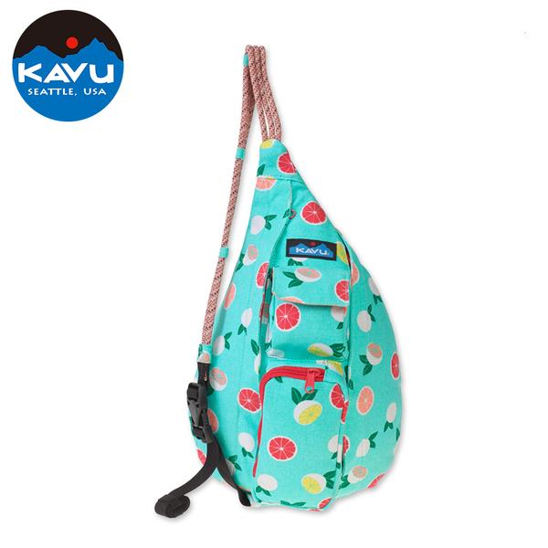 【西雅圖 KAVU】 Mini Rope Bag 休閒肩背包 柑橘樹叢 #9150