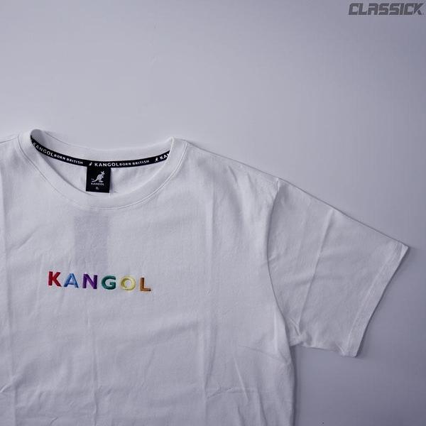 【四月新品】KANGOL 袋鼠 短T 短袖 小LOGO 彩紅 白 6021101800