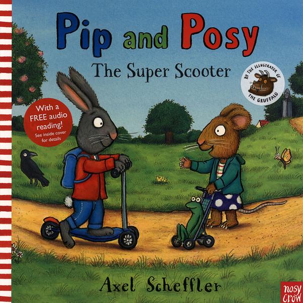 【麥克書店】PIP AND POSY:THE SUPER SCOOTER /英文繪本《主題: 友誼》內附QR code