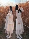 仙女裙 秋冬氣質溫柔風法式復古甜美超仙女打底蕾絲網紗連身裙內搭長裙子  蘑菇街小屋