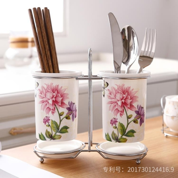 陶瓷筷子筒瀝水家用筷子桶筷子盒韓式收納置物架筷籠筷筒筷子籠 新年禮物