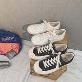 布鞋 2019新款鞋子學生復古 ins帆布鞋低幫百搭原宿風 降價兩天