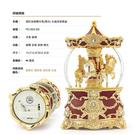 JARLL 讚爾藝術~酒紅金旋轉木馬(燈光) 華冠系列 水晶球/音樂盒(PD1903)