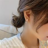 小珍珠耳釘耳環耳墜耳釘簡約925銀針水鉆小愛心【奇妙商鋪】