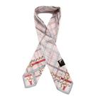 DAKS春夏抗UV鍊繩格紋涼感領巾手帕領巾(淺粉色)989126-12