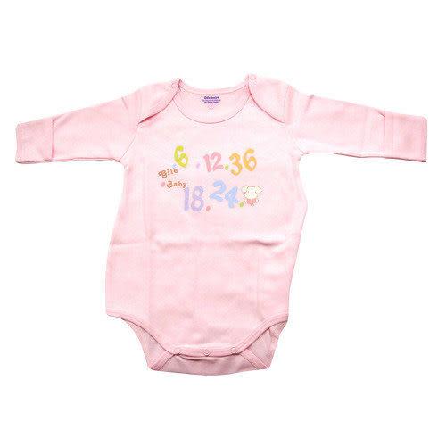 【奇買親子購物網】GILE BABY 可愛小狗數字歐式連身衣1-2 (粉/黃)