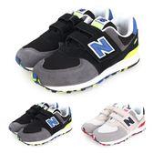 NEW BALANCE 574系列 男兒童復古慢跑鞋-WIDE(免運 寬楦 NB≡體院≡