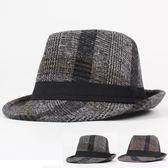 男帽子 紳士帽 秋冬新品男士韓版潮舞臺爵士帽遮陽女復古英倫休閒禮帽《印象精品》yx410