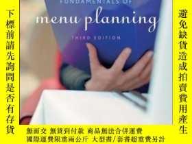 二手書博民逛書店Fundamentals罕見of Menu Planning, 3rd EditionY410016 Paul