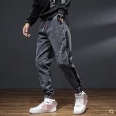 直筒褲牛仔褲男士寬鬆大碼直筒褲青年夏季薄款韓版修身休閒破洞長褲子潮
