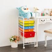 【ikloo】繽紛小巧2大4小六層抽屜收納箱/收納車