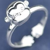 925純銀戒指-生日情人節禮物猴子造型可愛迷人流行女飾品73ae92【巴黎精品】