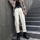 寬管褲 女秋冬直筒寬松高腰顯瘦2020年新款闊腿老爹褲子【新品上架】
