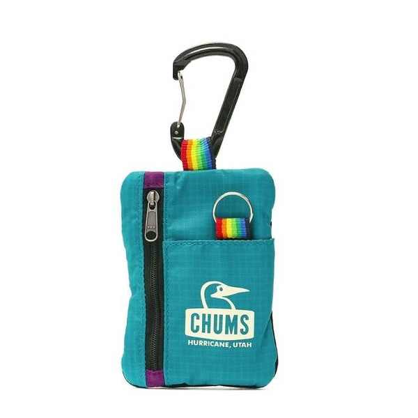 CHUMS Spring Dale Key Coin Case 零錢包 藍綠/紫 CH602741T023【GO WILD】