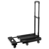 [家事達] TRENY 六輪折疊平板車-黑 150KG  特價