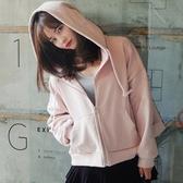 連帽衛衣女粉色開衫大牌薄款外套韓版bf寬鬆ulzzang學生棒球服潮