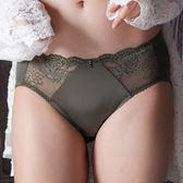 EASY SHOP-奢貴濃情 中腰三角褲(墨綠色)