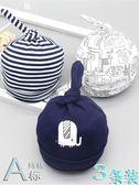 嬰兒帽子幼秋冬季0-3-6個月初新生兒胎帽女寶寶男童厚款 【格林世家】