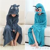 兒童浴巾斗篷帶帽比純棉吸水速干洗澡巾可穿可裹浴袍寶寶專用大童 創意家居生活館