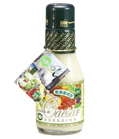 穀盛 脆綠鮮凱撒沙拉醬 220g/瓶