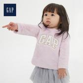 Gap女嬰 甜美可愛圓領長袖套頭上衣525818-粉色
