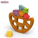 【BeginAgain】木頭造型玩具 形狀平衡船 (B1402)