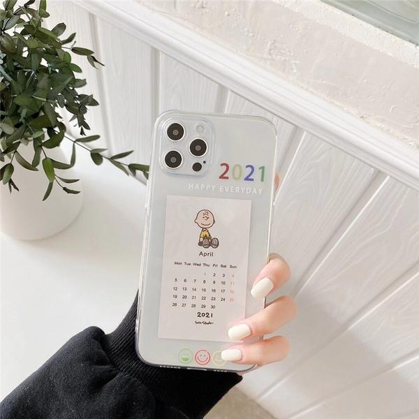 2021史努比月曆 適用 iPhone12Pro 11 Max Mini Xr X Xs 7 8 plus 蘋果手機殼
